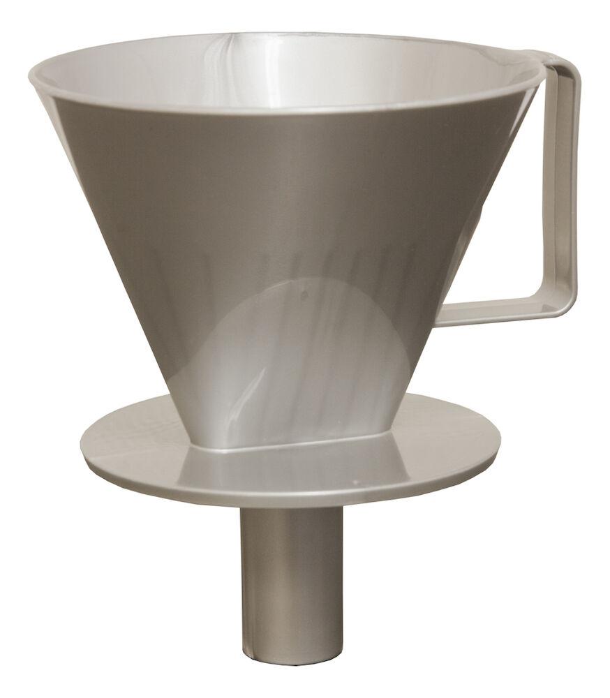 Kaffetrakter 12V Waeco 5 kopper. Svartsølv. Kaffetrakter